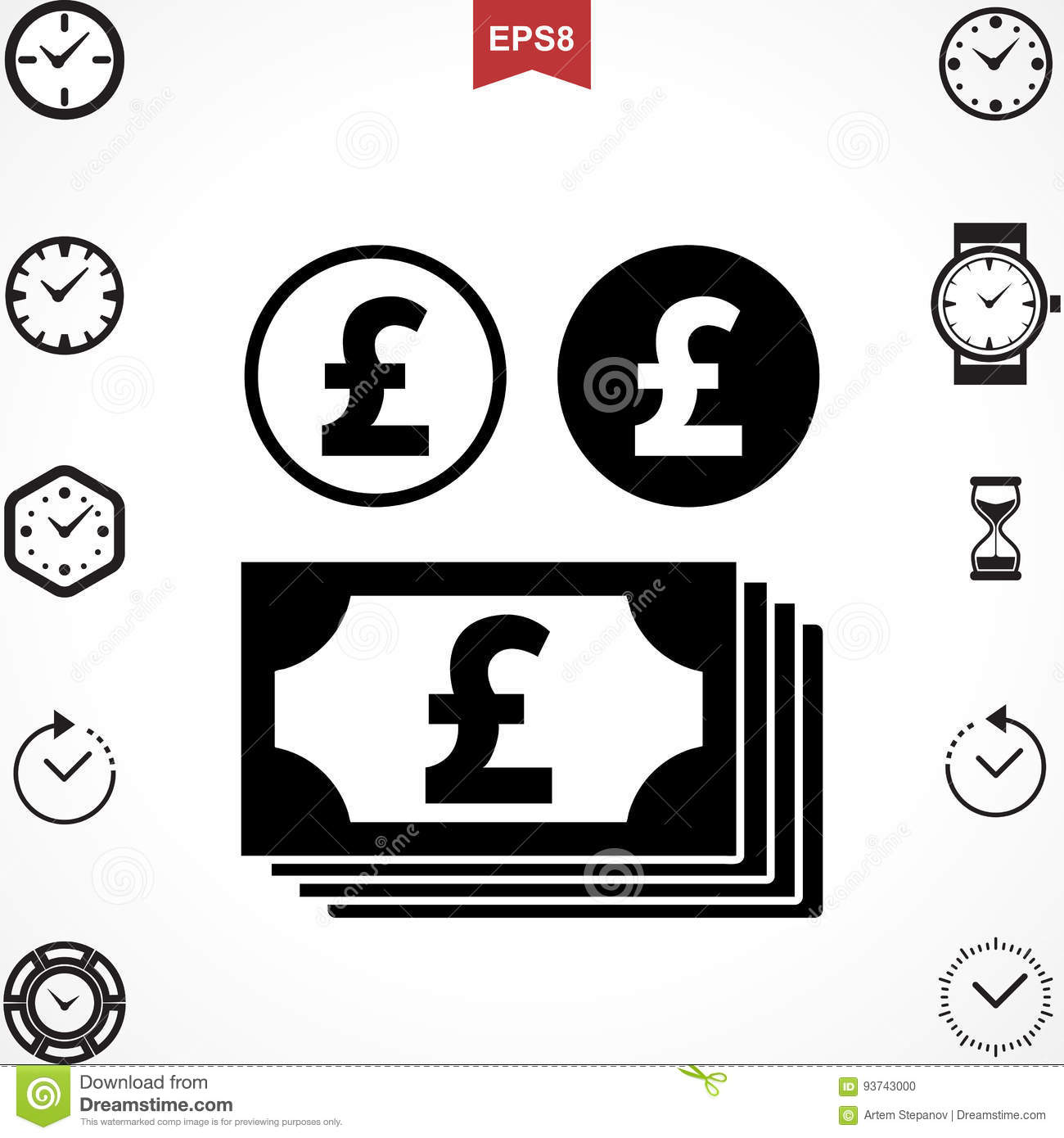 Pound Vector Icon Stock Vector Image 93743000