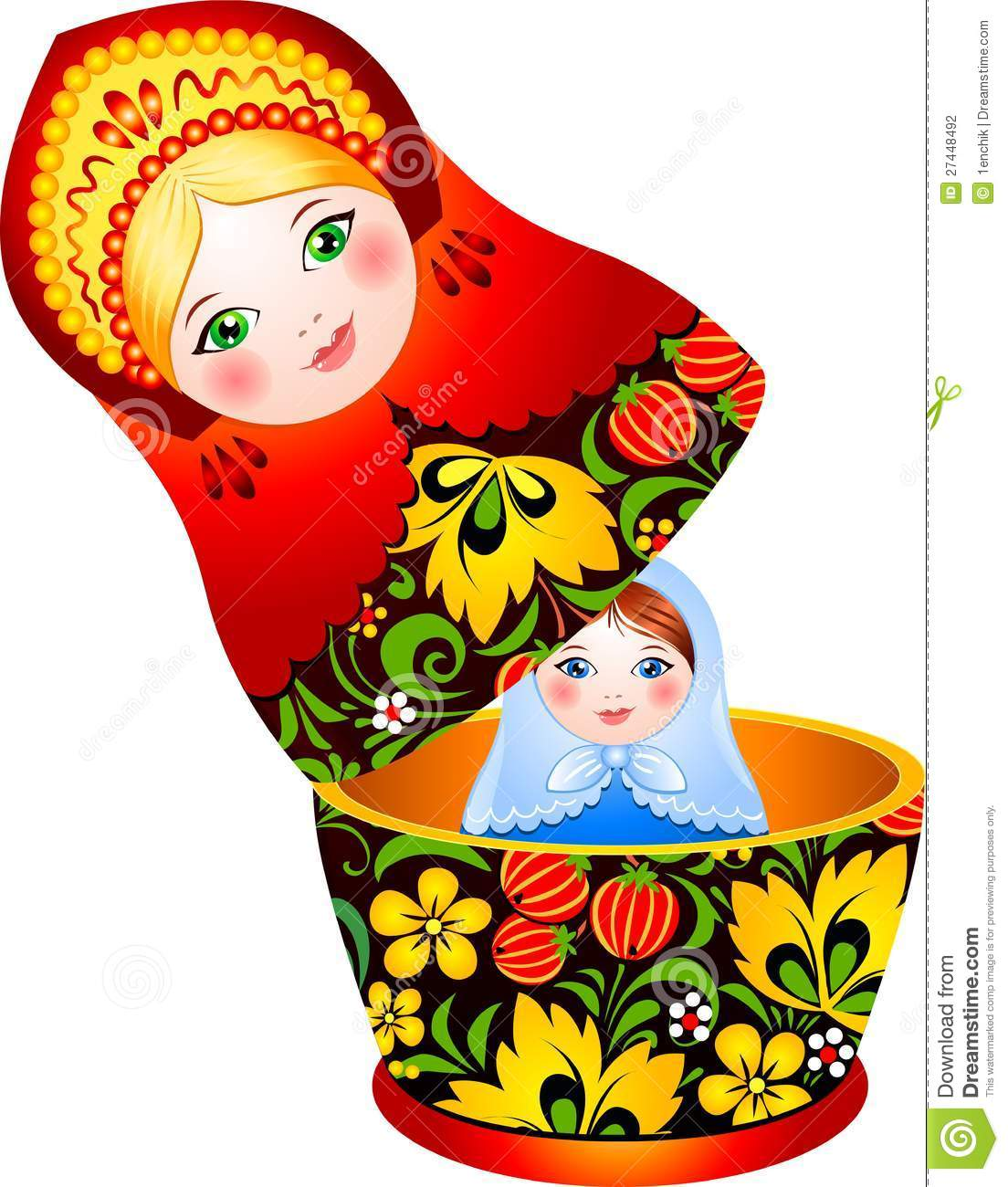Poup e russe de matryoshka de tradition photographie stock for Poupee russe