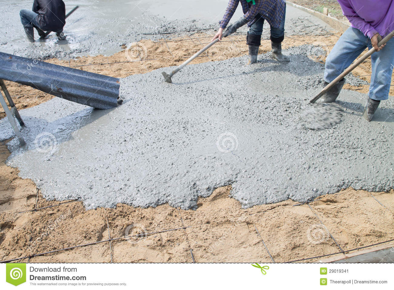 Pour The Cement Floor Stock Image Image 29019341
