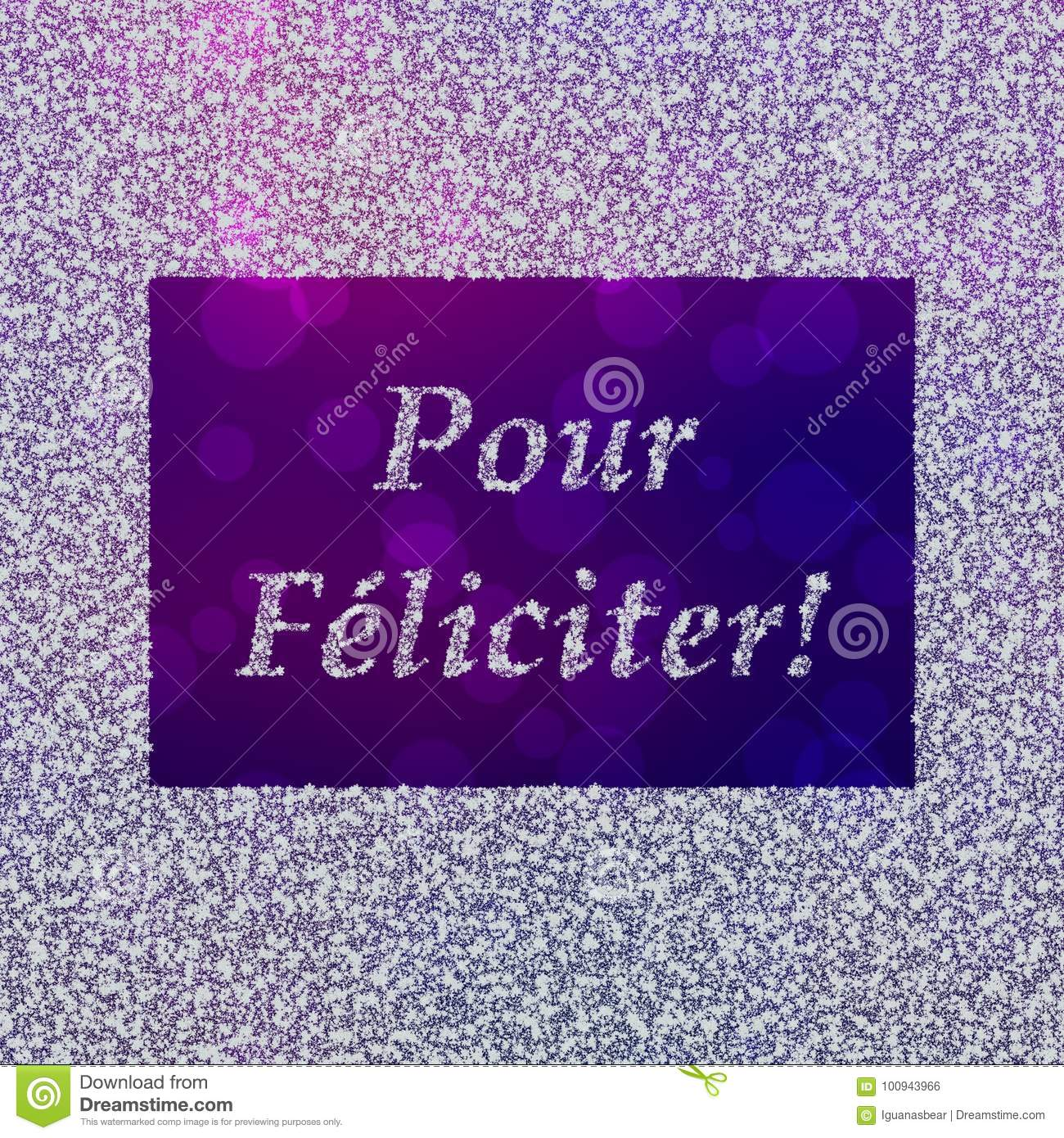 Pour Feliciter New Years Greetings In French Stock Illustration