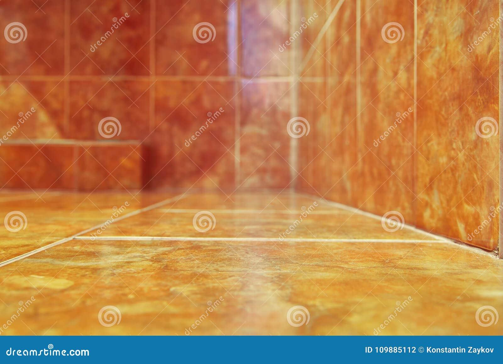 Pour le fond Carreaux de céramique modernes dans la salle de bains Ton chaud de couleur Copiez l espace Foyer sélectif