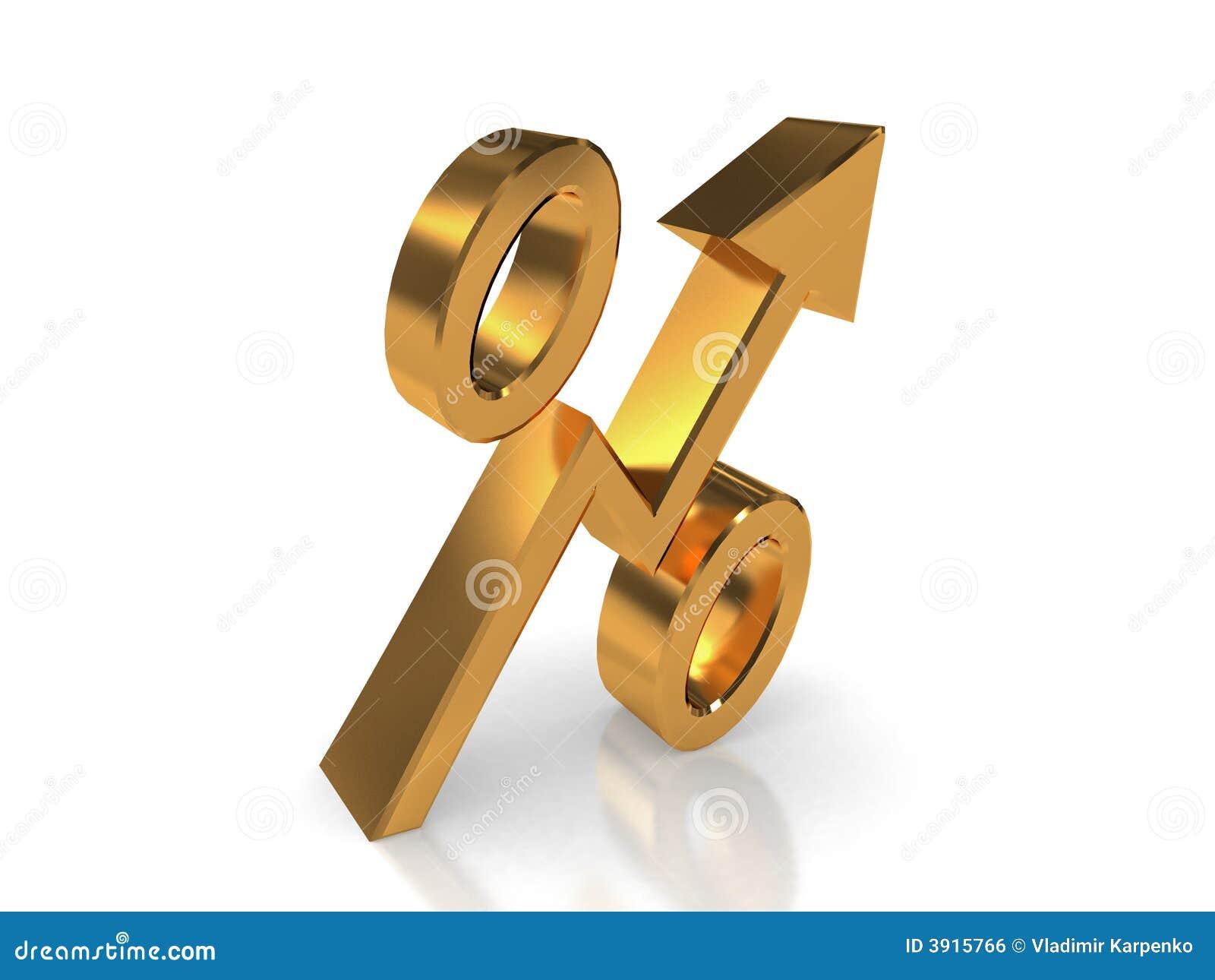 pourcentage d 39 or illustration stock image du pourcentage 3915766. Black Bedroom Furniture Sets. Home Design Ideas