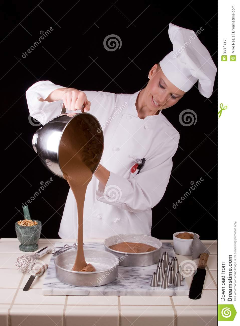 Pouring Cake Batter Stock Photo Image Of Cake Craft