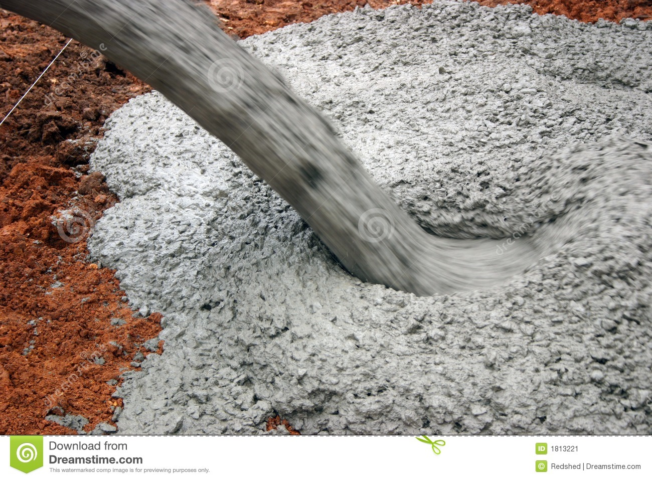 Pouring Cement Stock Image Image 1813221