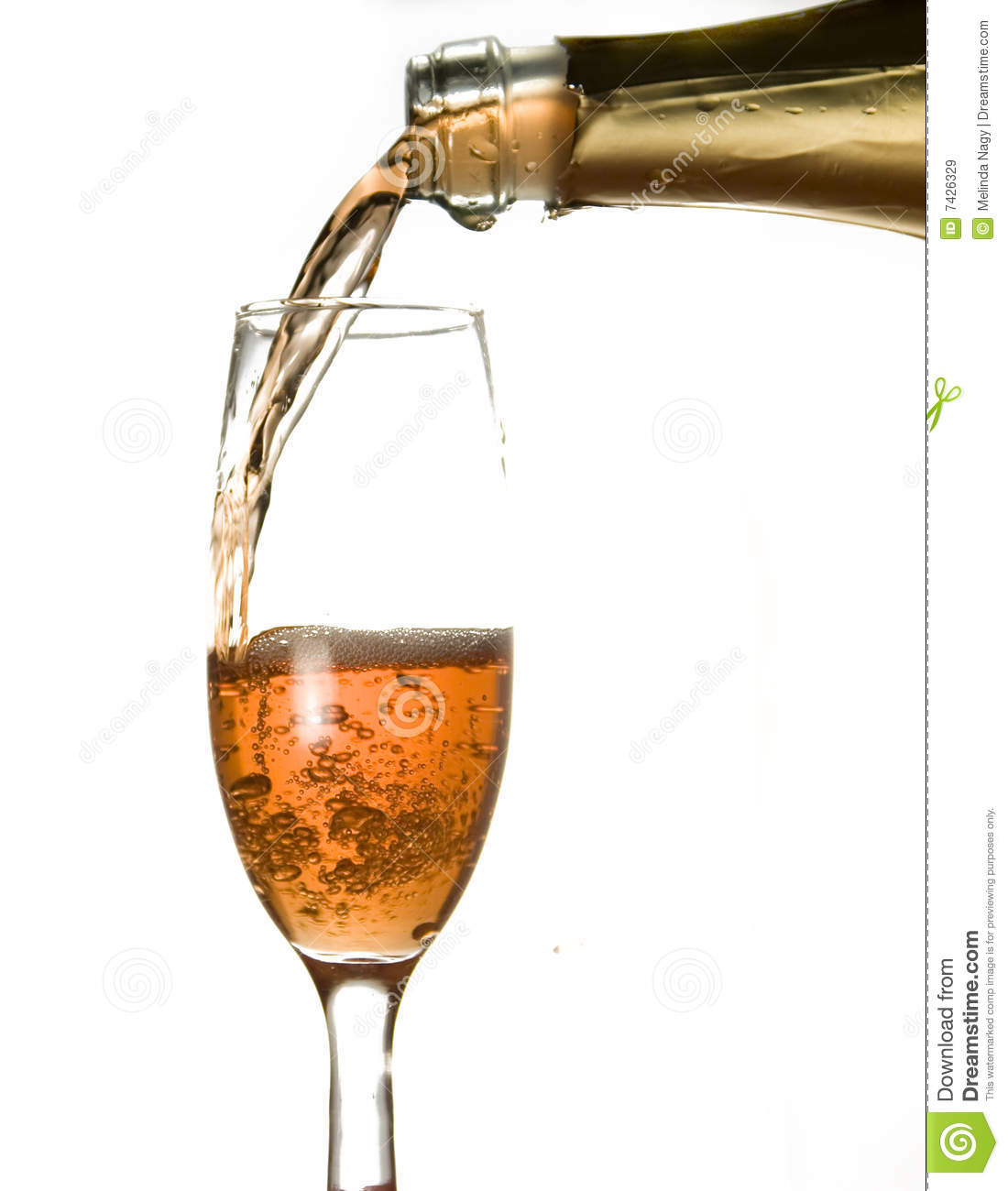 pouring champagne stock image image of success splash