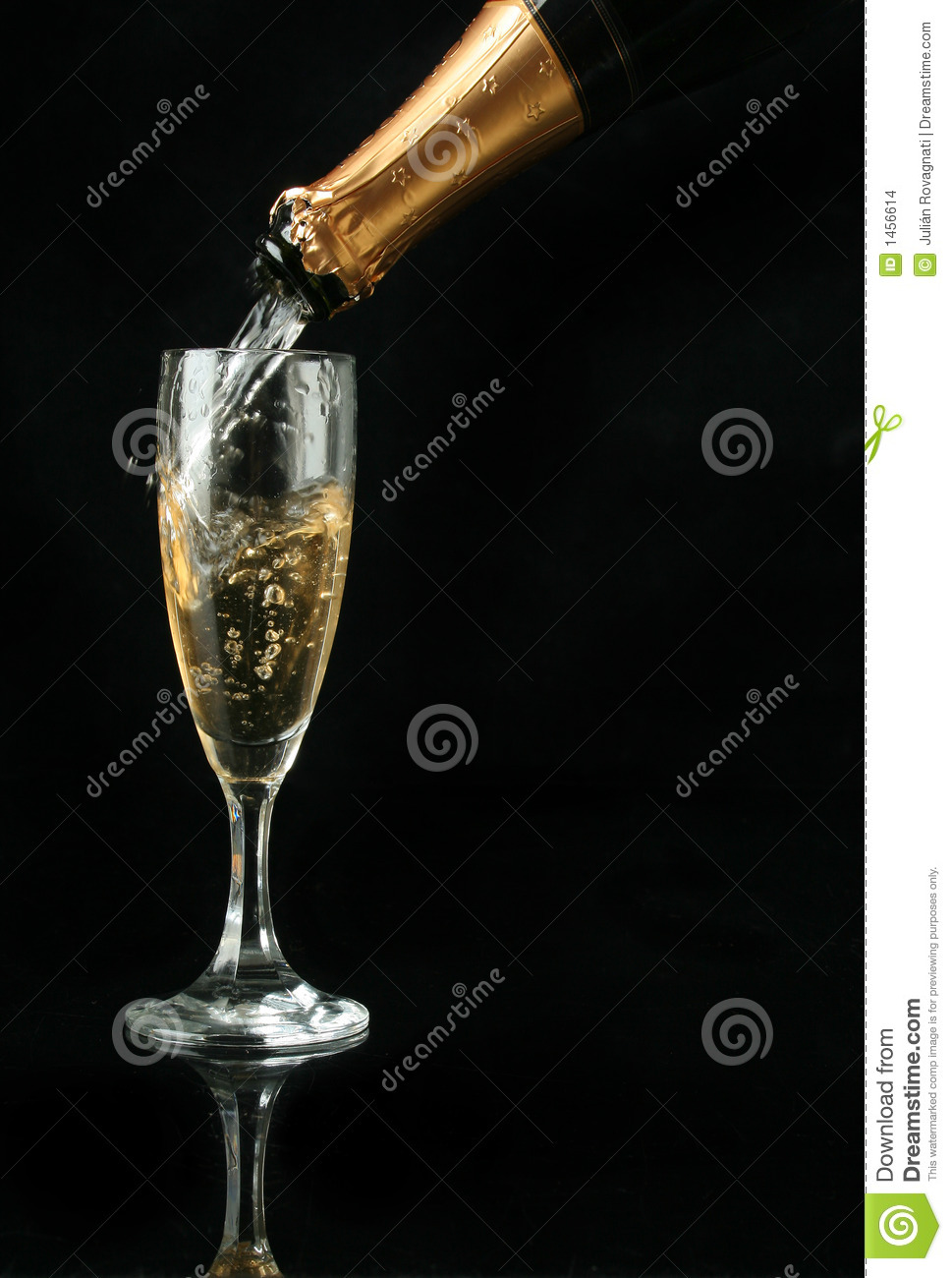 pouring a champagne flute stock images image 1456614. Black Bedroom Furniture Sets. Home Design Ideas