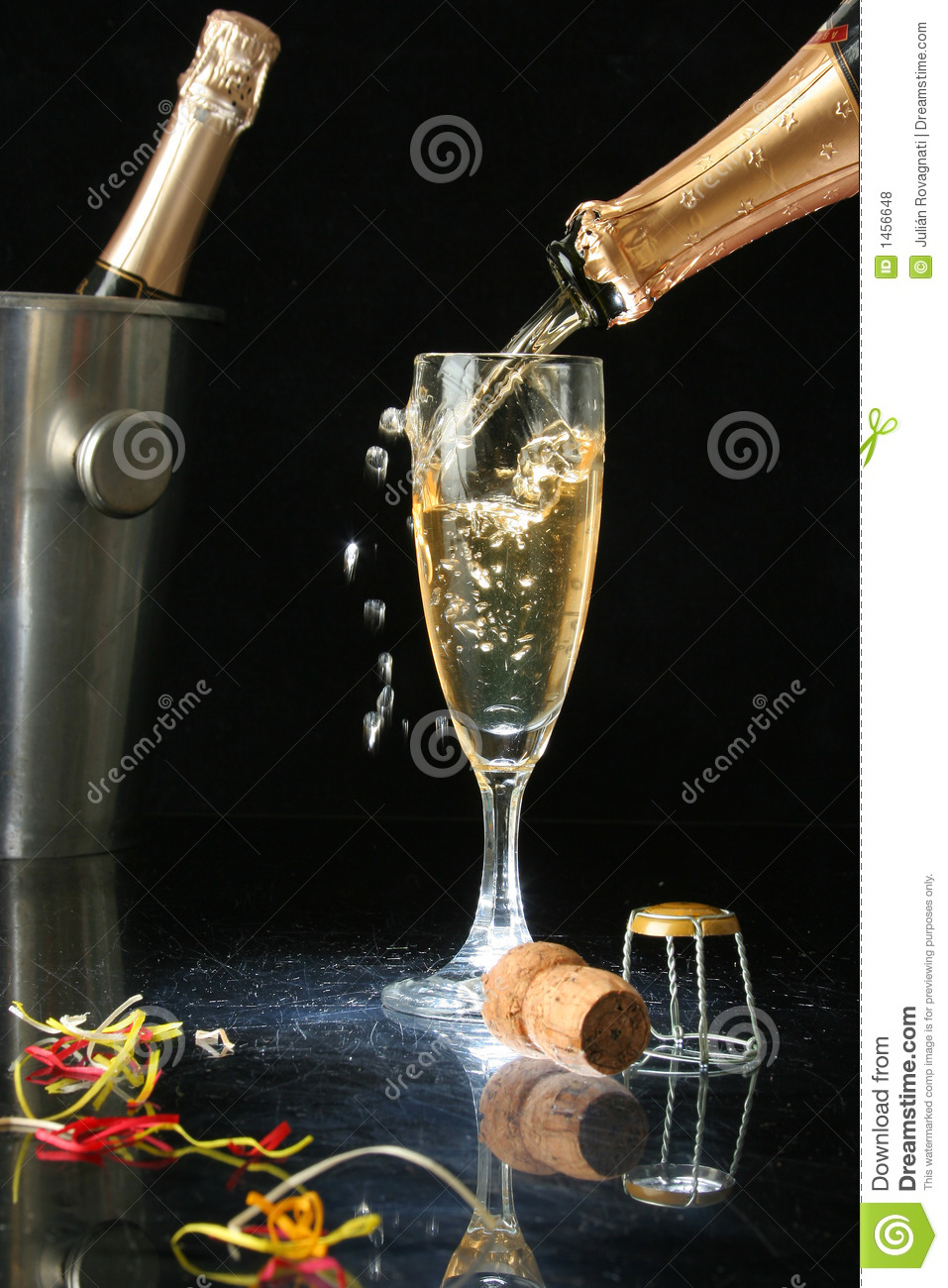 pouring a champagne flute royalty free stock photos. Black Bedroom Furniture Sets. Home Design Ideas