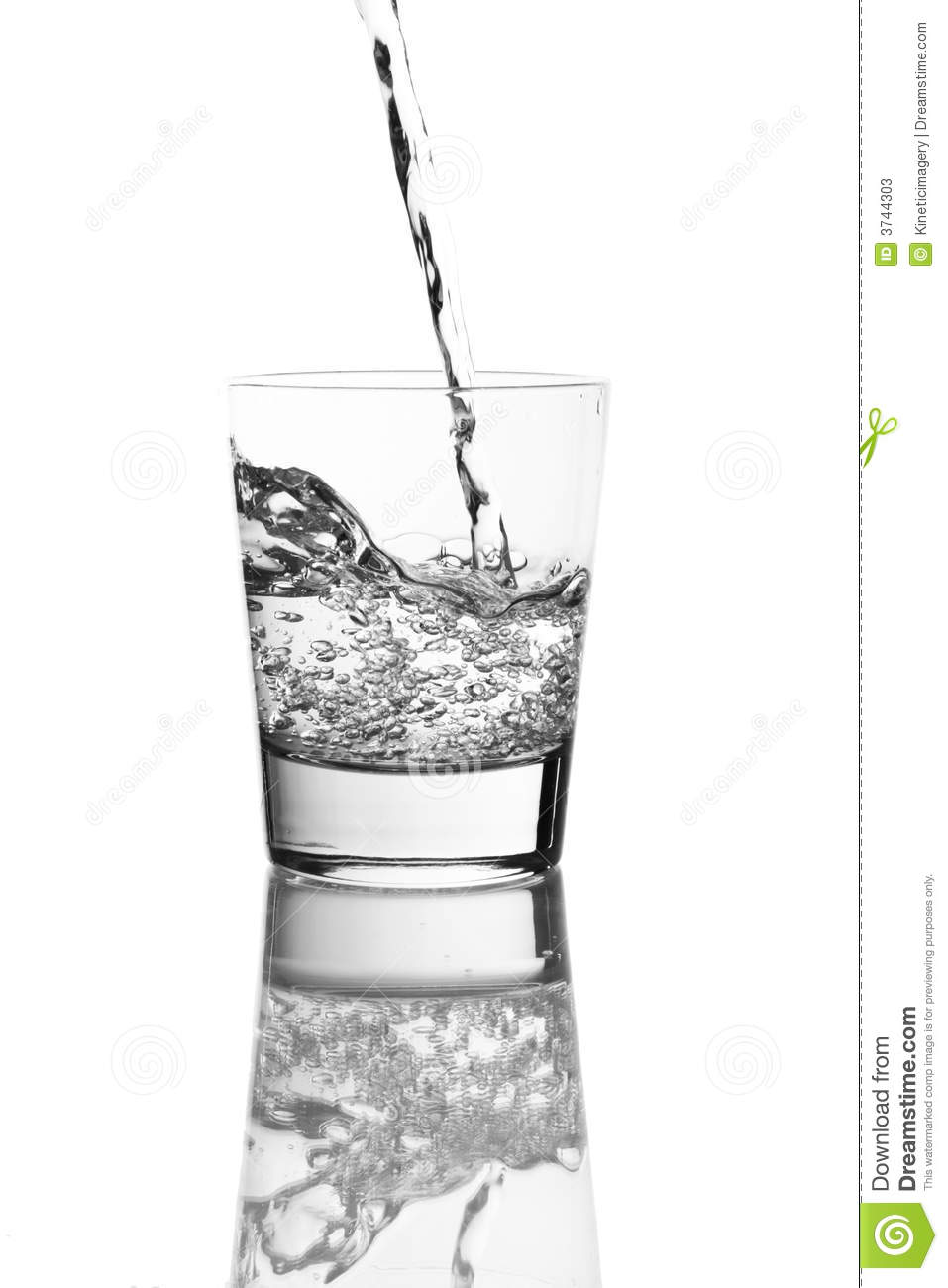 Pouring A Clear Liquid Stock Photos