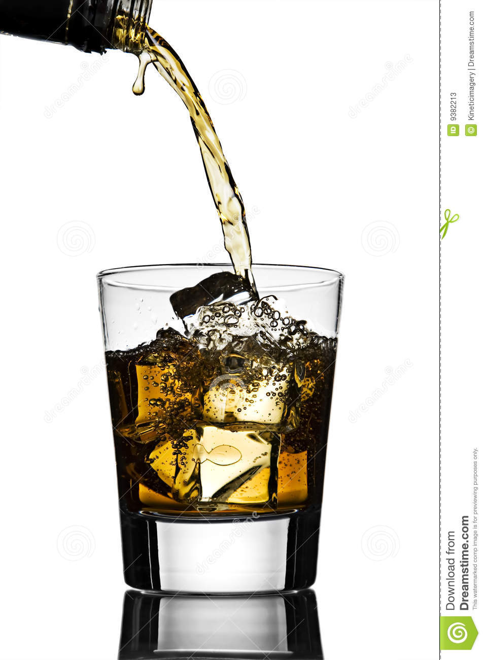 Download Pouring a Cocktail stock image. Image of beverage, cubes - 9382213