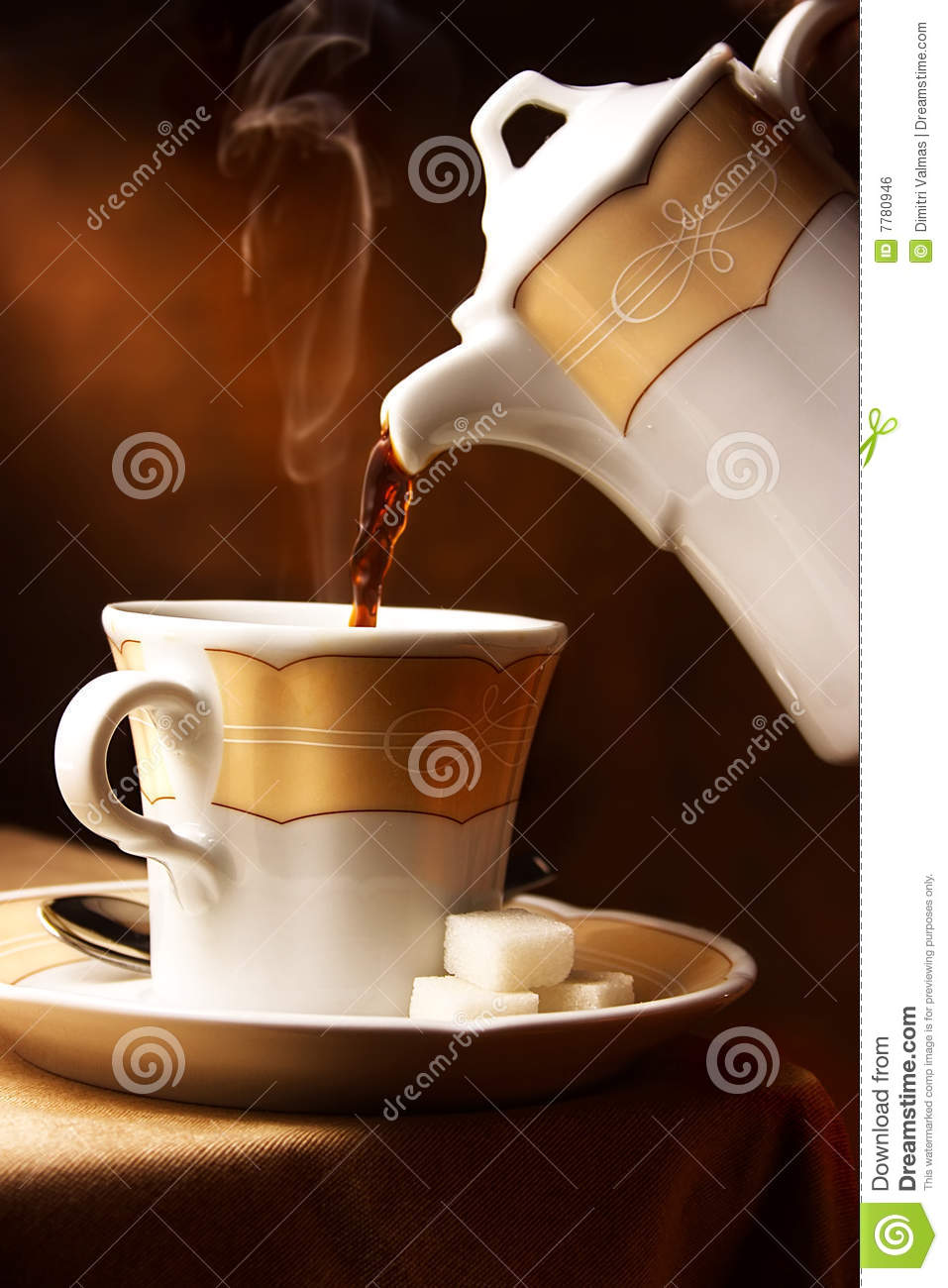 Pouring Coffee Into A Cup Royalty Free Stock Image Image