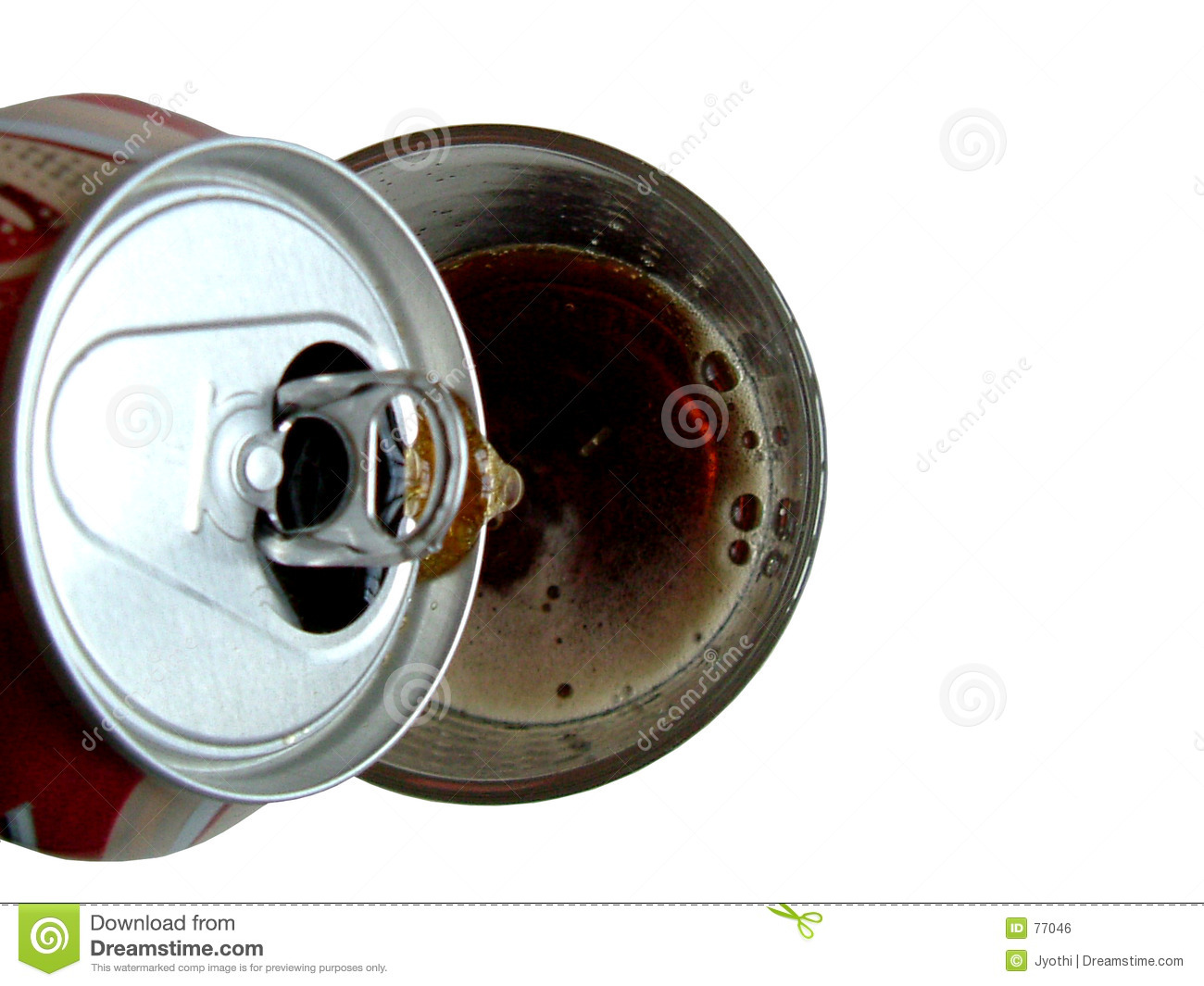 Pouring cola into glass