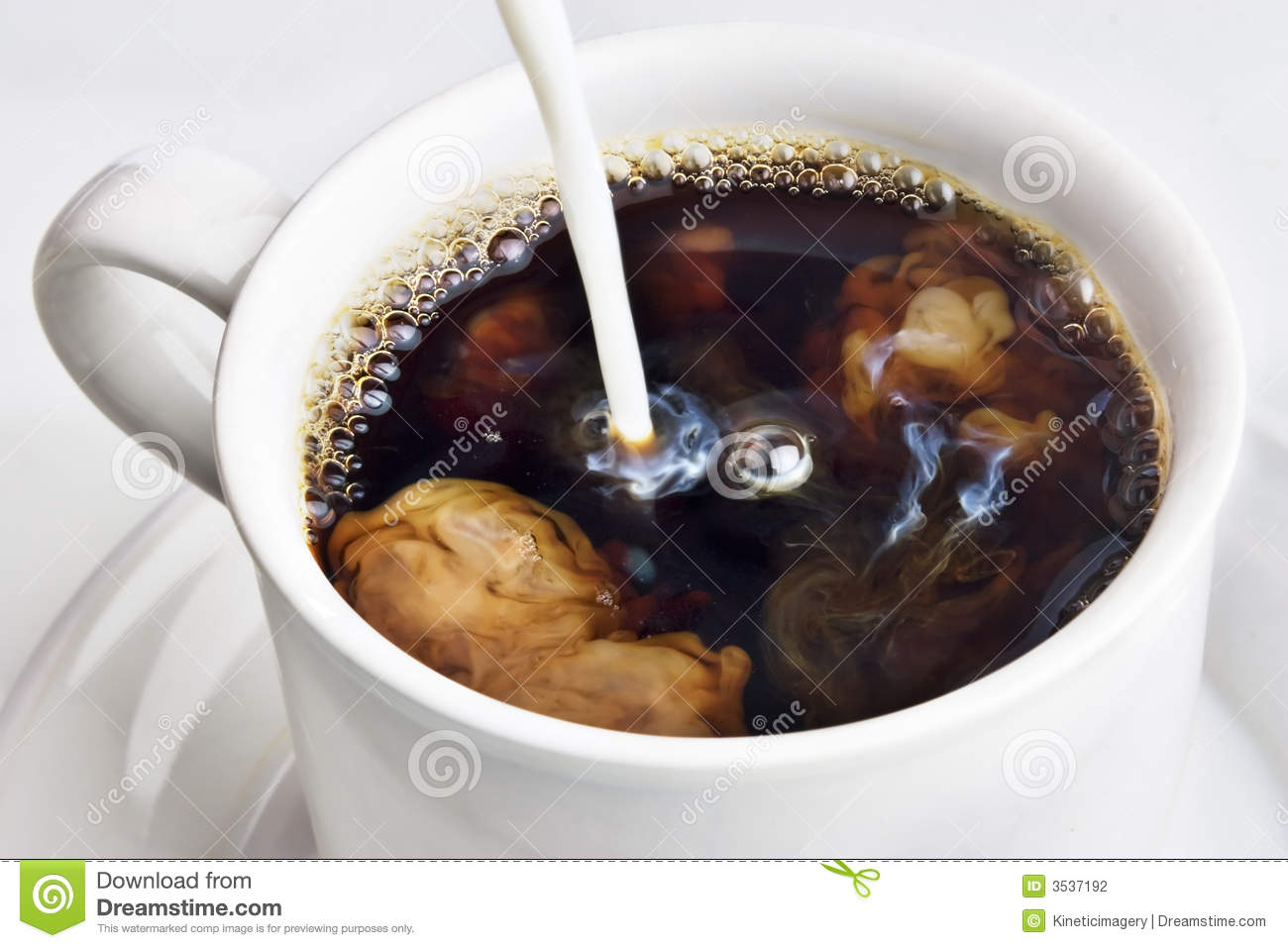 Pouring Cream Into A Coffee Stock Photography - Image: 3537192