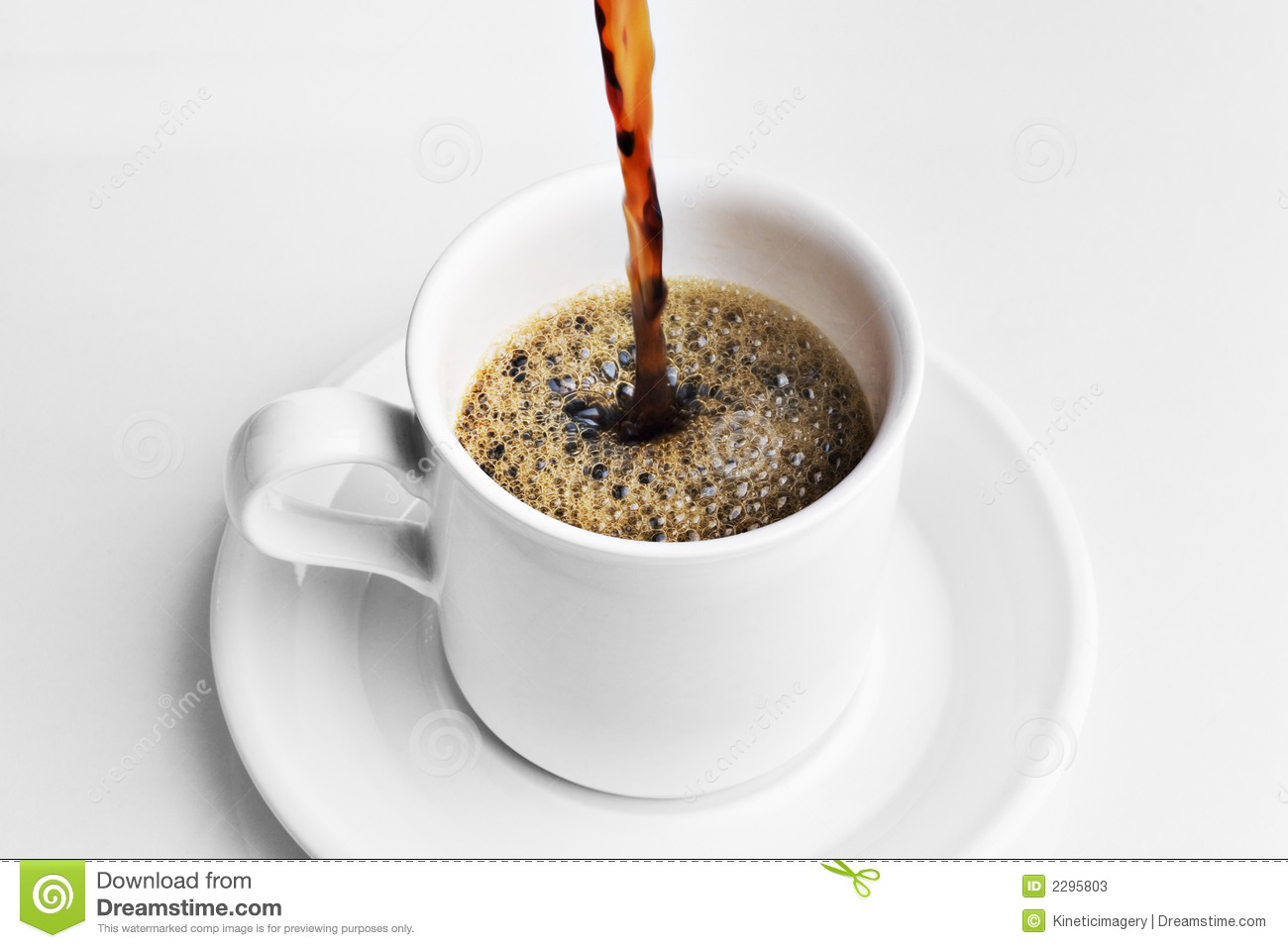 Pouring A Cup Of Coffee Stock Photos - Image: 2295803