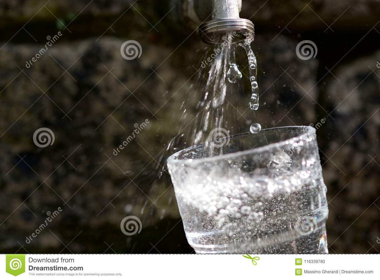 Pouring Fresh Cold Water stock photo. Image of fill - 116339780