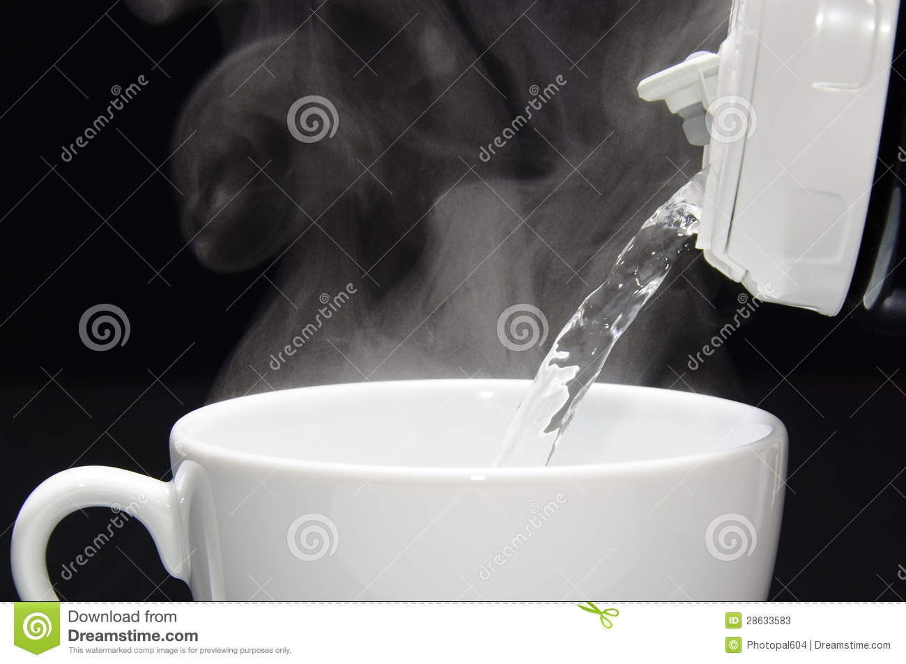 Pouring Hot Water Stock Photos Image 28633583