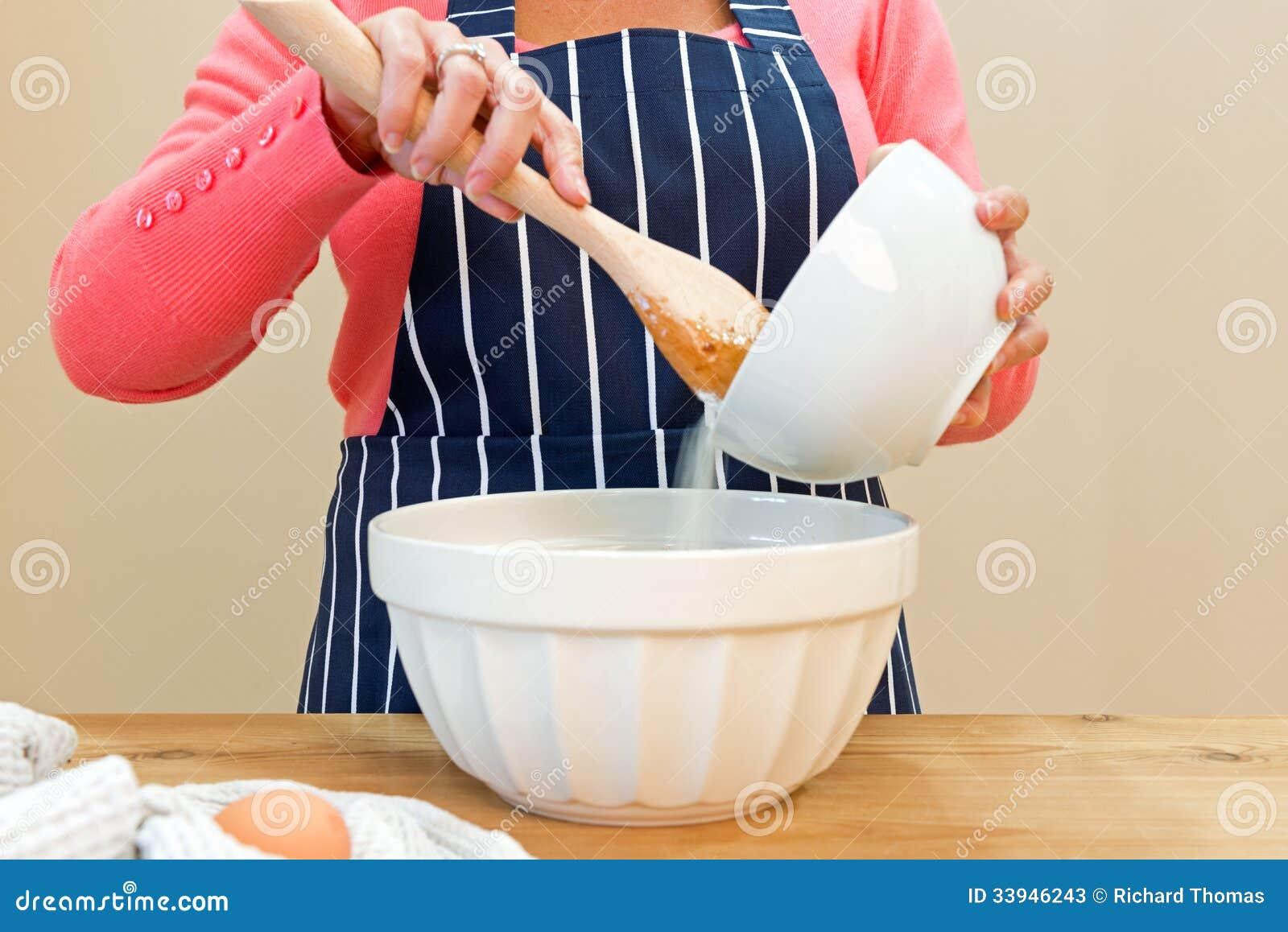 Mixing Cake Ingredients