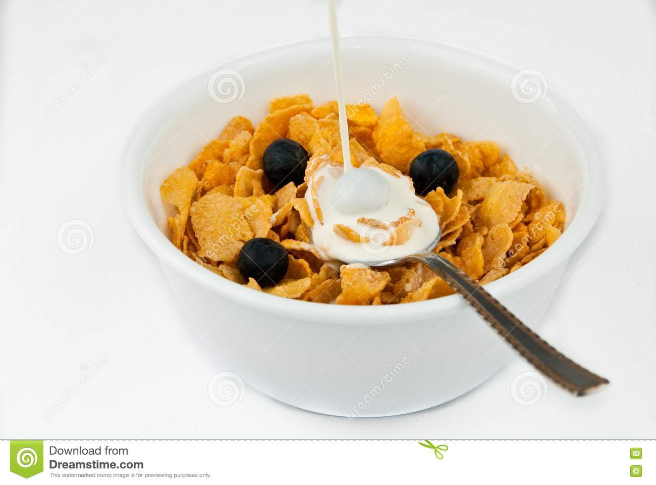 Pouring Milk Into Bowl Of Cereal Royalty Free Stock Photos ...