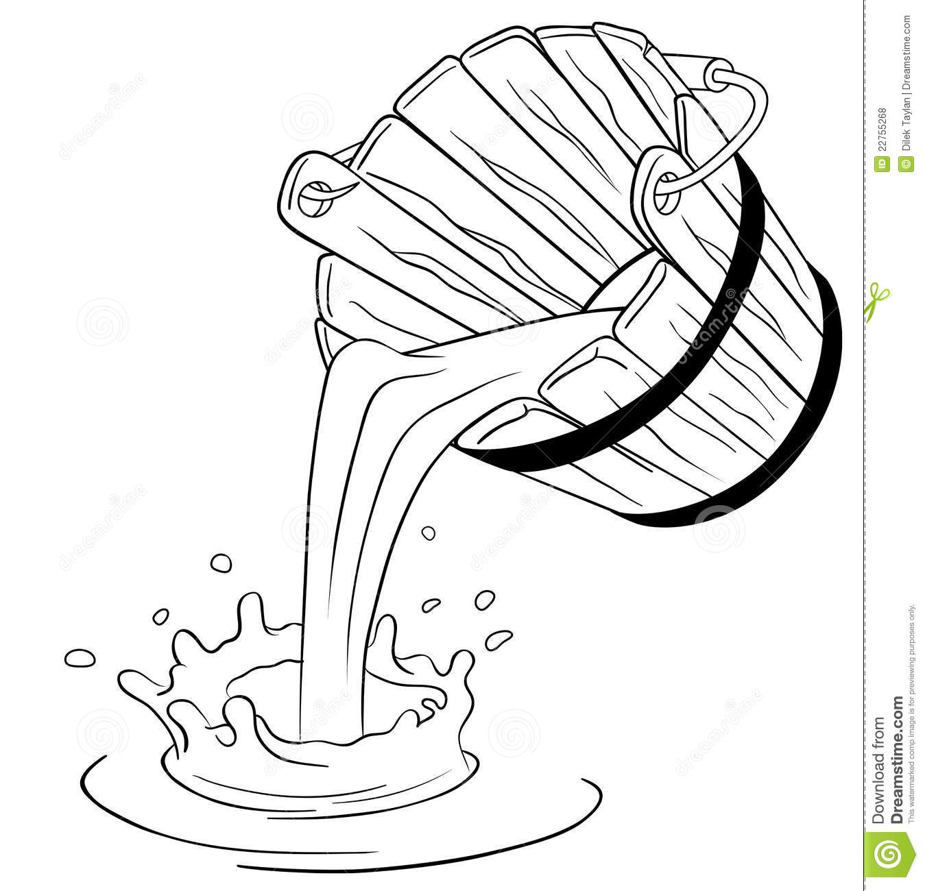 Pouring Milk From Bucket Royalty Free Stock Photos - Image: 22755268
