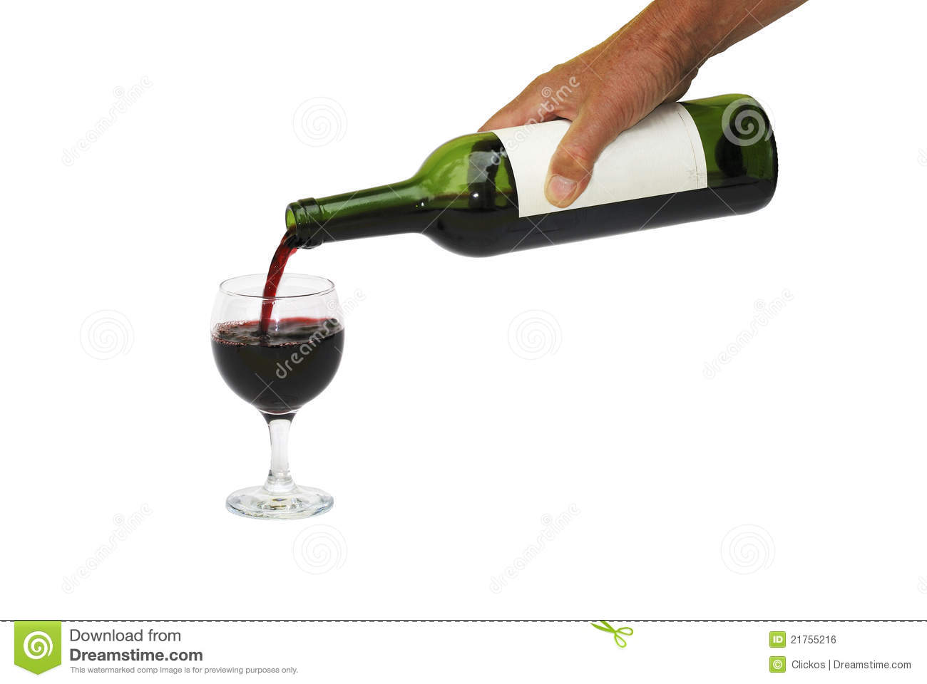 Pouring Red Wine Into Glass Royalty Free Stock Image ...