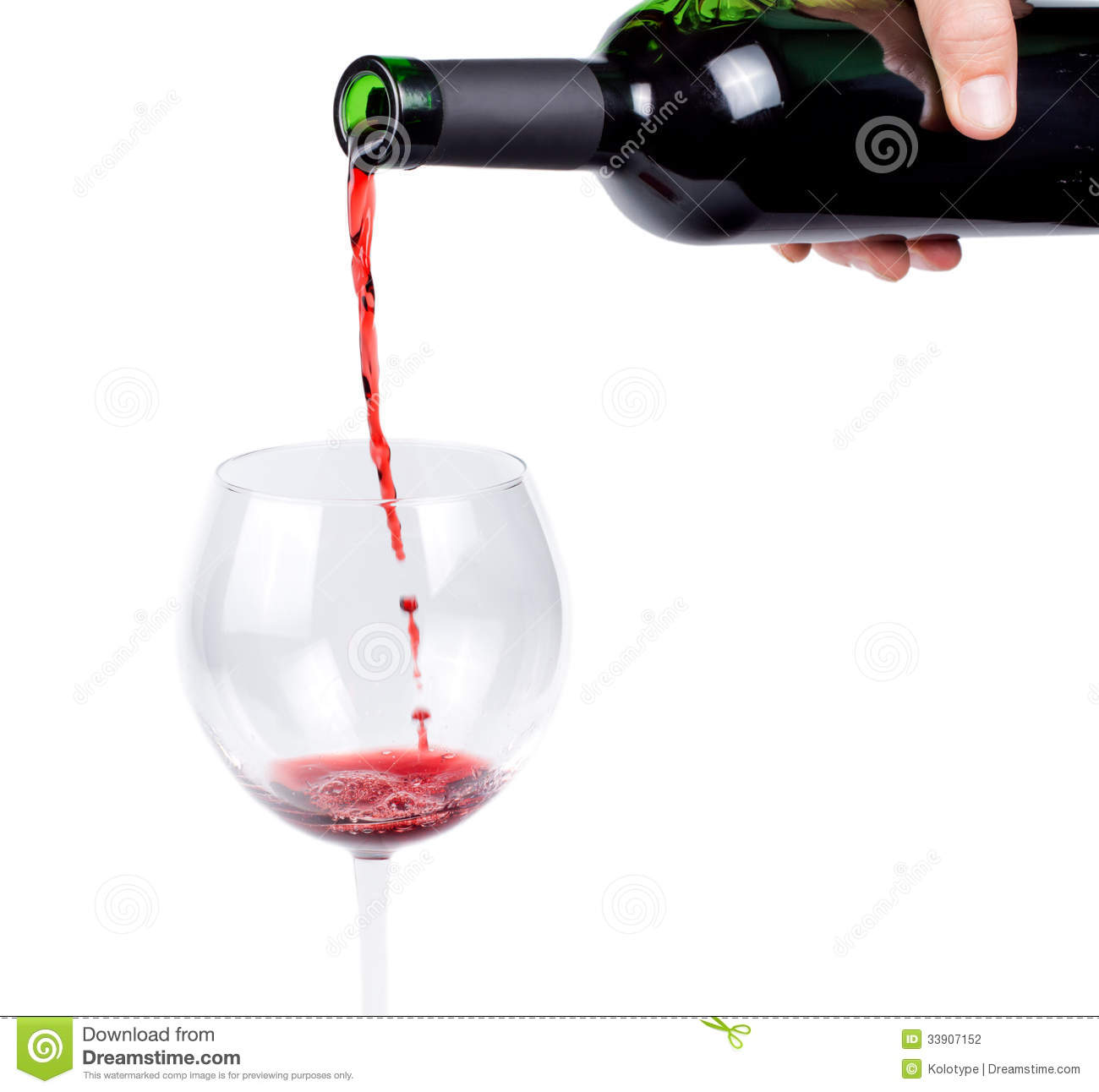 Pouring Red Wine Into A Wineglass Stock Photo - Image of ...