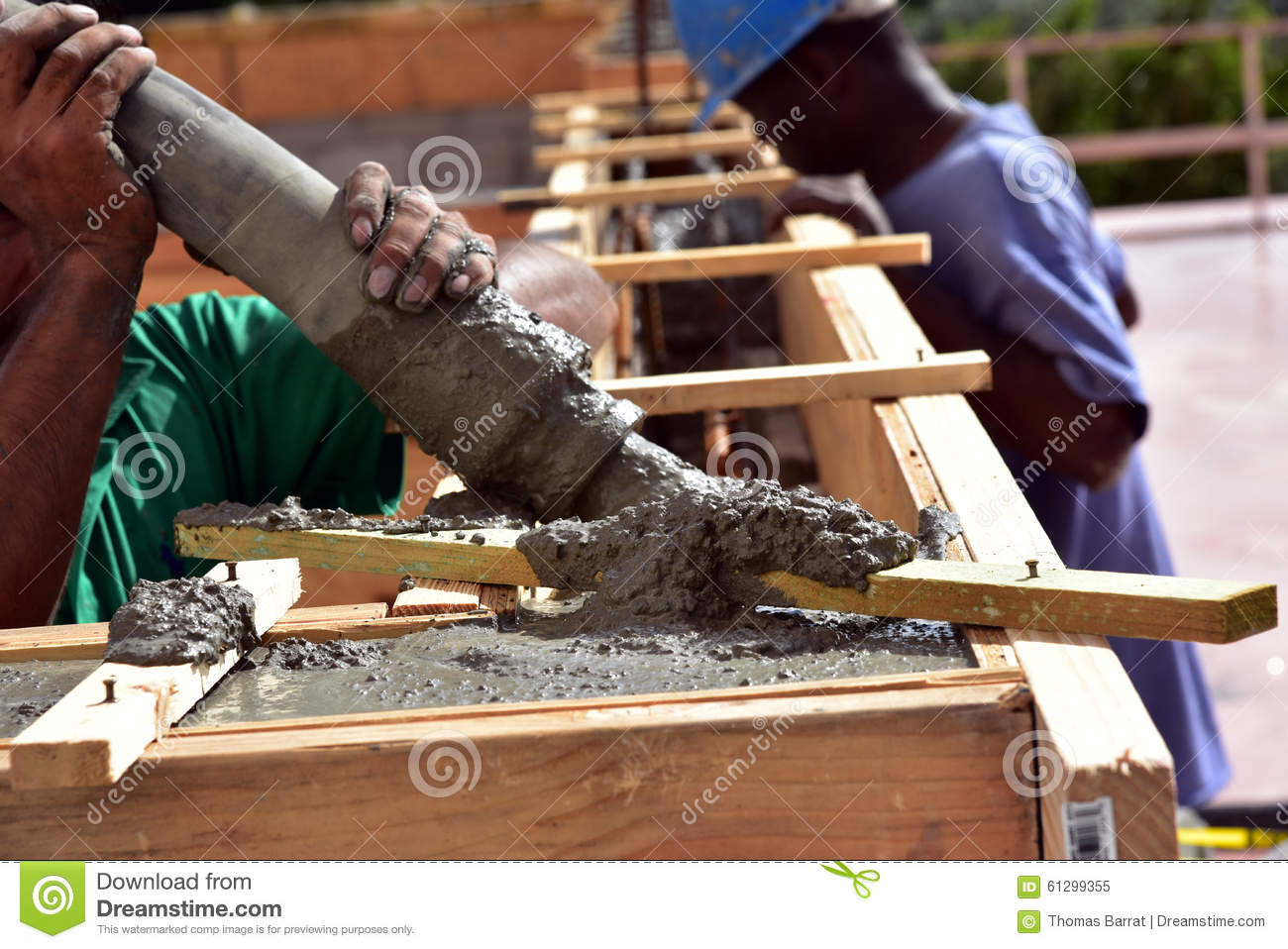 Pouring A Tie Beam Stock Image Image Of Build Florida