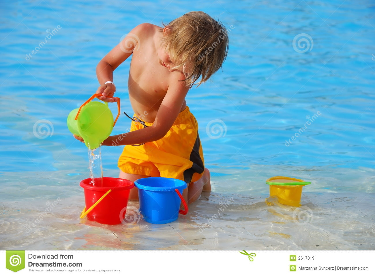 Pouring Water Stock Image Image Of Playing Youngster 2617019
