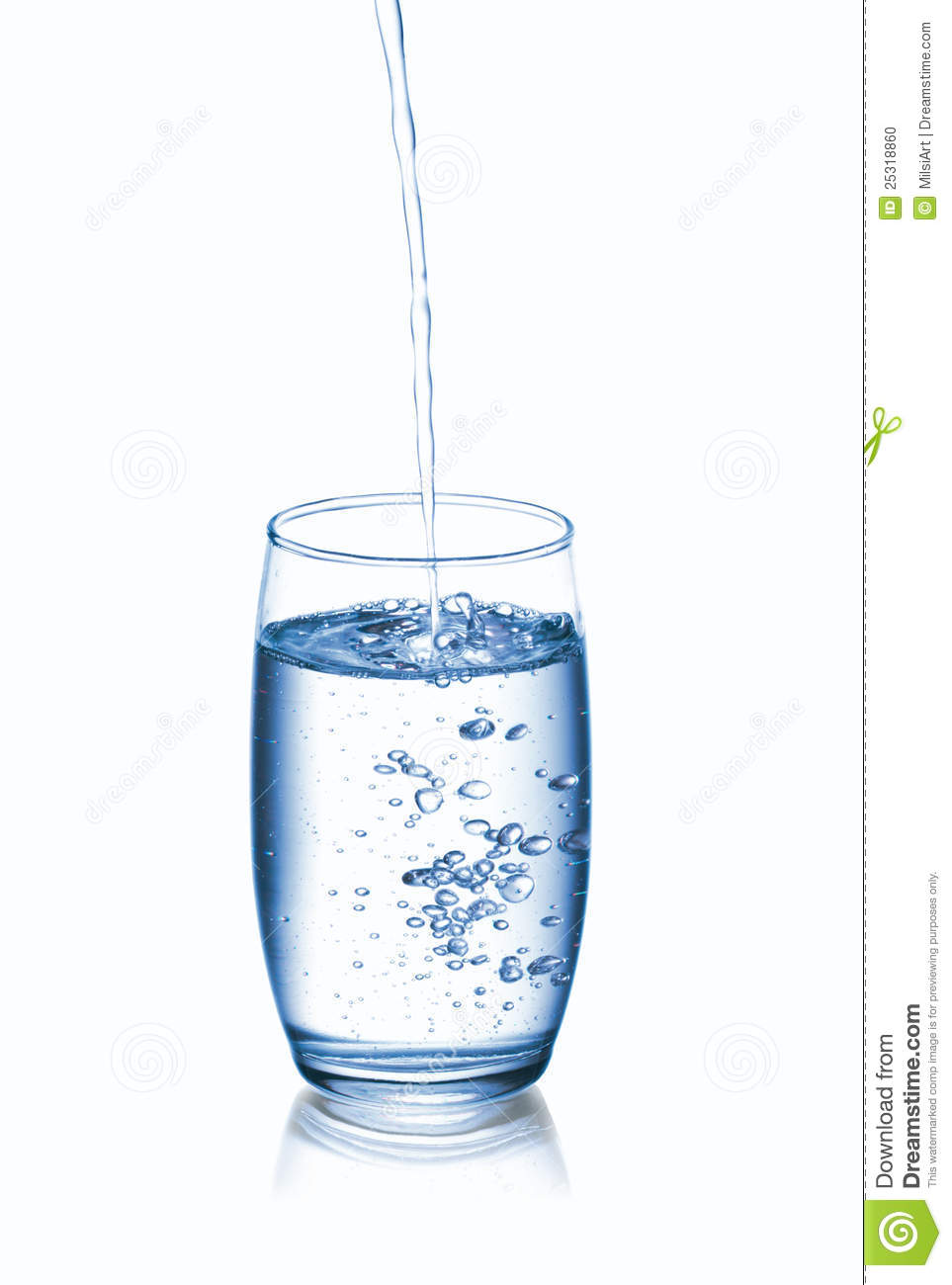 Pouring Water Into Glass Stock Photo - Image: 25318860