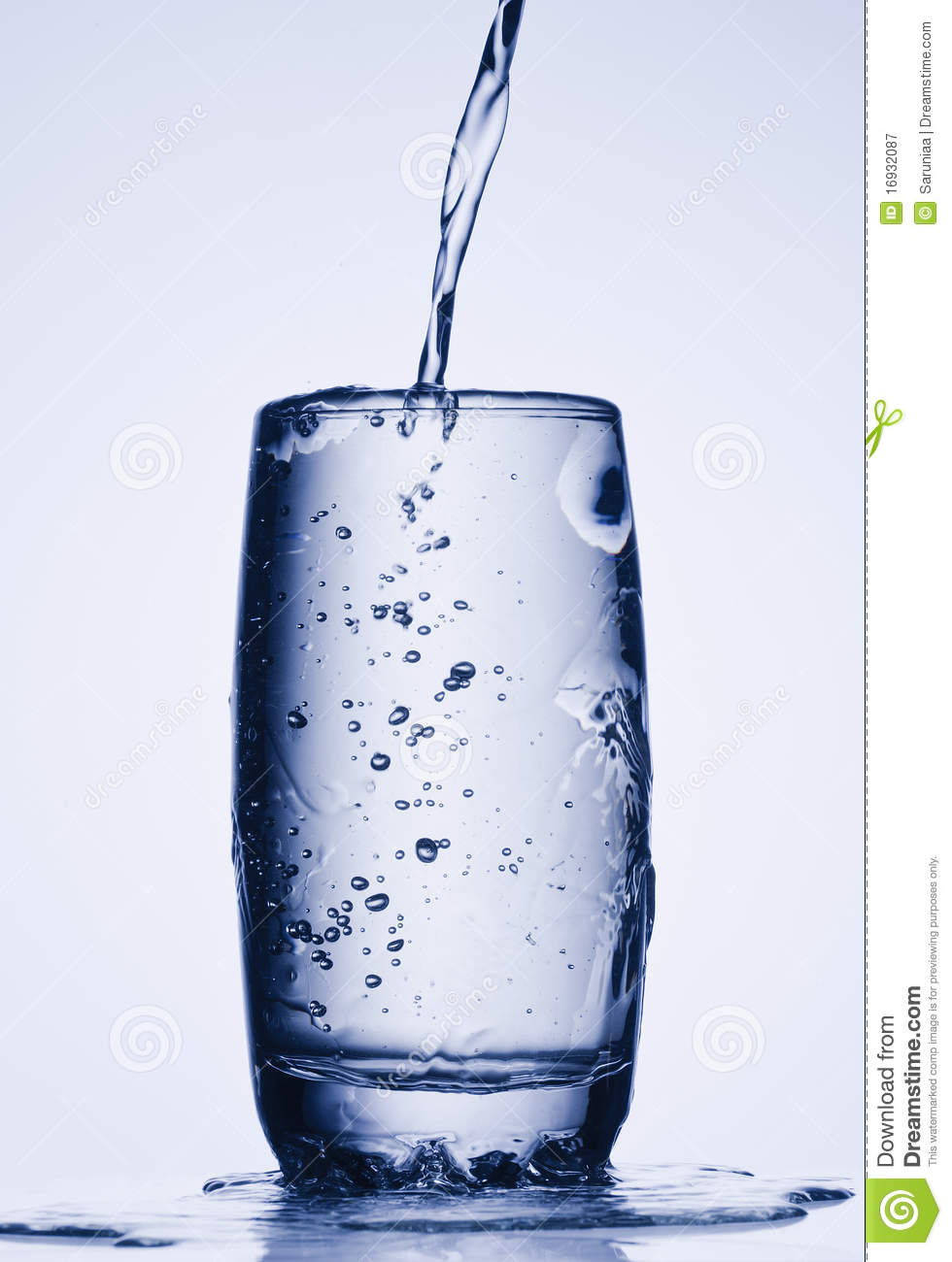 Pouring Water Into Tall Glass Stock Image Image 16932087