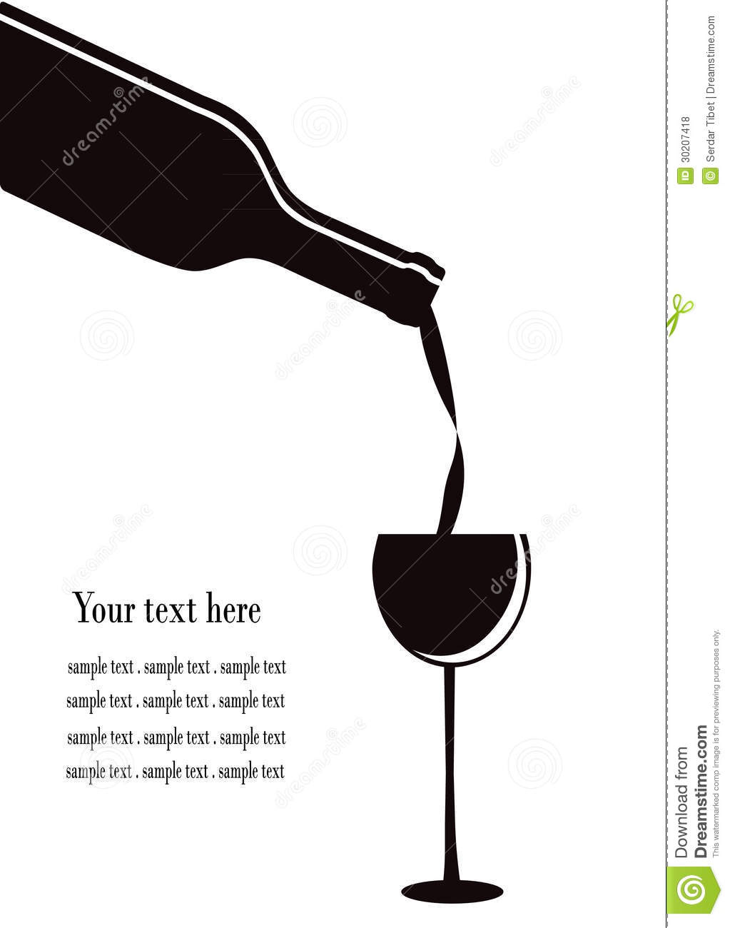 Wine Glass Royalty Free Stock Photos - Image: 30207418