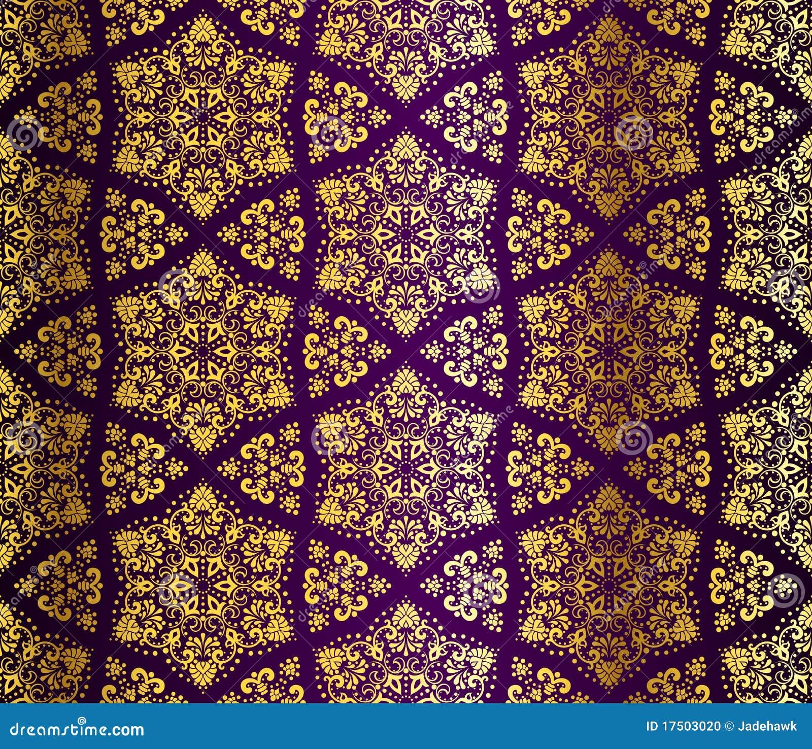 Pourpre et arabesque sans joint d or