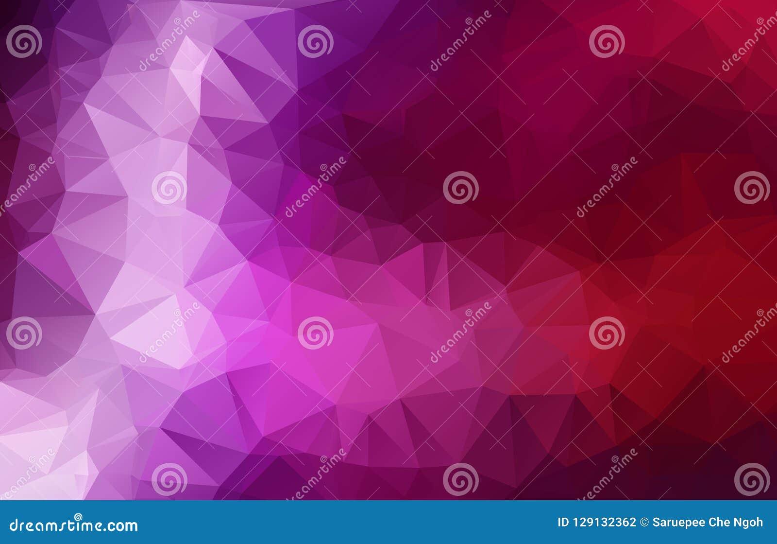Pourpre multicolore abstrait, illustration polygonale rose, qui se composent des triangles Fond géométrique dans le style d origa