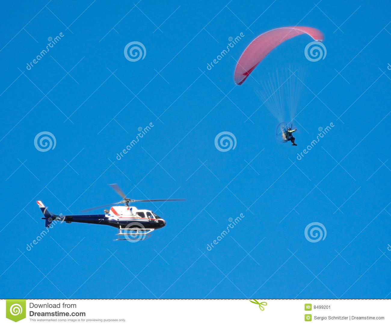 Poursuite de Parapente