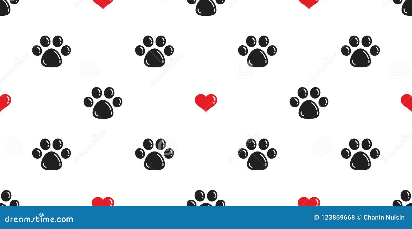 Poursuivez l illustration de fond de papier peint de bande dessinée d empreinte de pas de Cat Paw d isolement par valentine de co