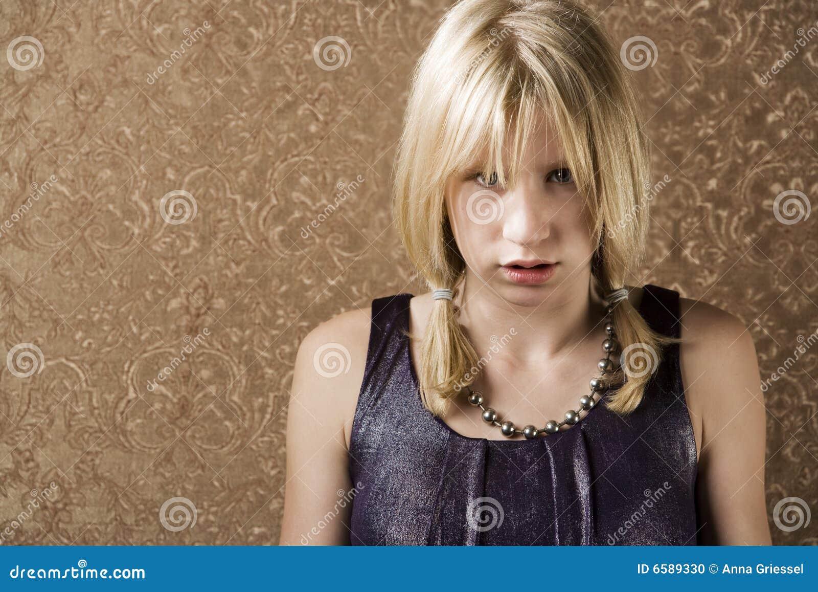 Pouting Teenage Girl Stock Photo Image 6589330