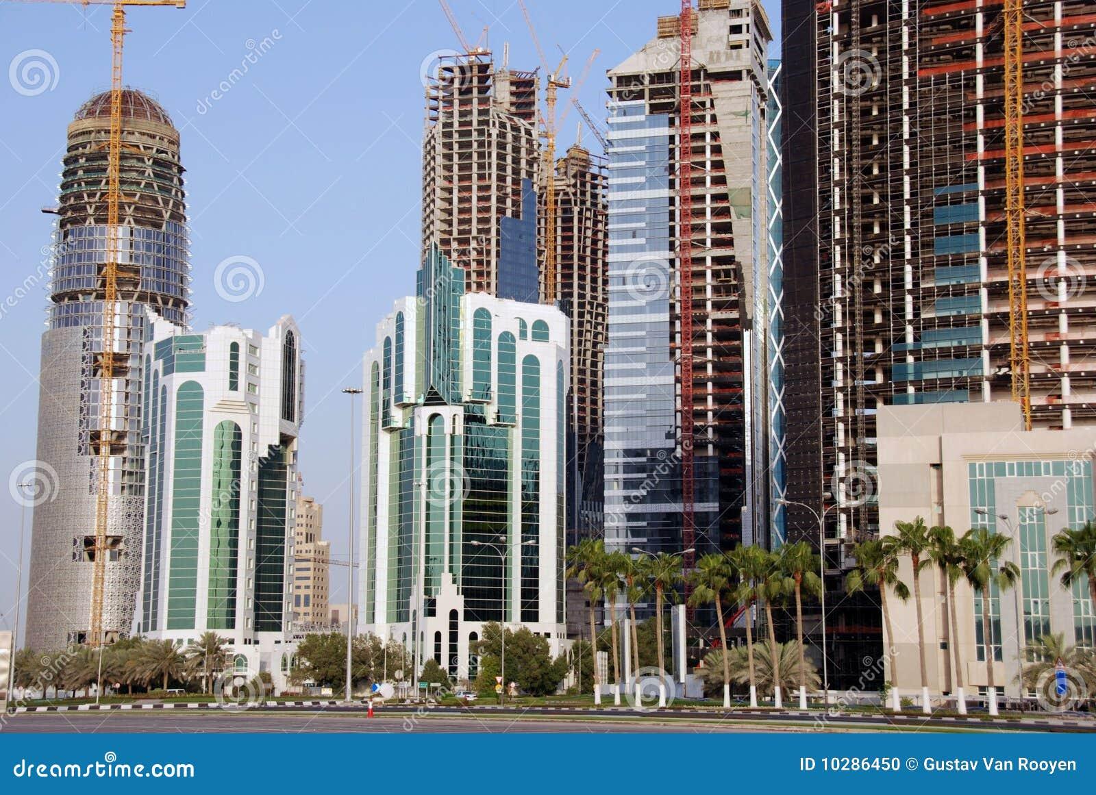 Povoando a skyline de Doha
