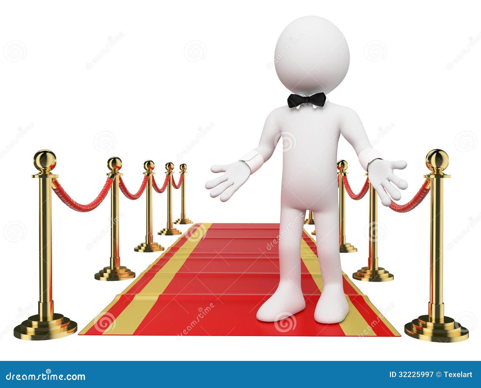 Download Povos 3D Brancos. Boa Vinda Ao Tapete Vermelho Ilustração Stock - Ilustração de glamour, festive: 32225997