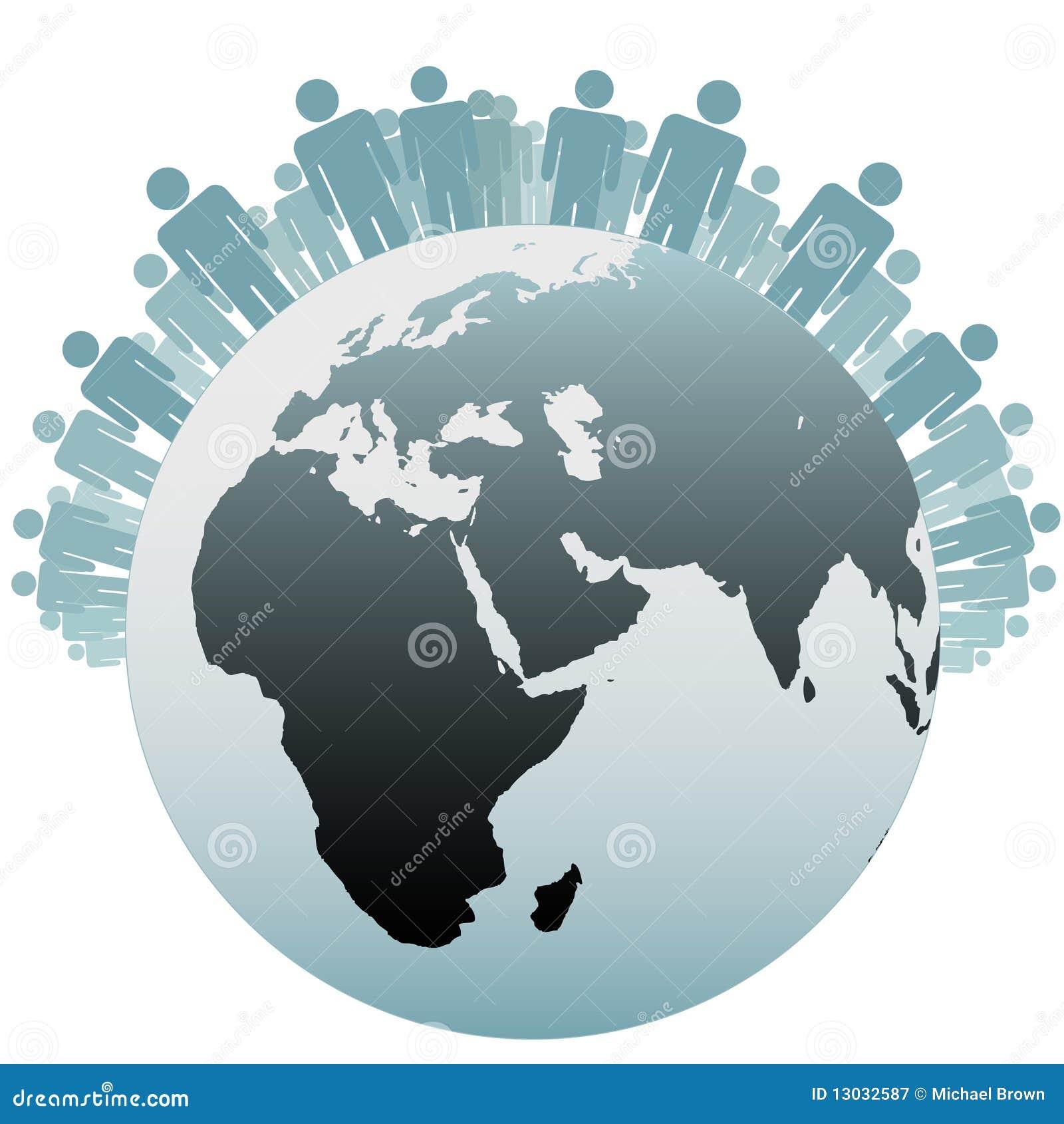 Povos do símbolo como a população da terra