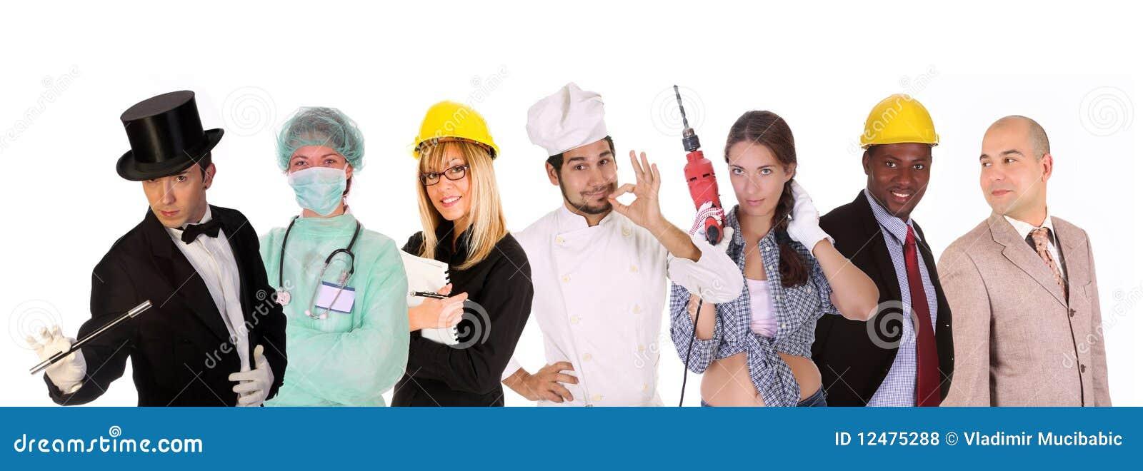 Povos dos trabalhadores da diversidade