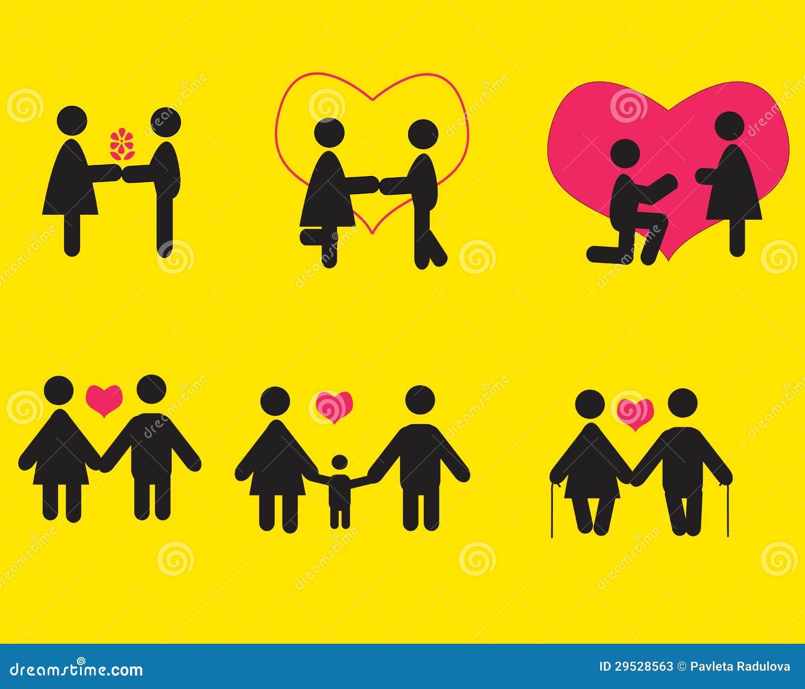 Povos no amor, grupo do ícone