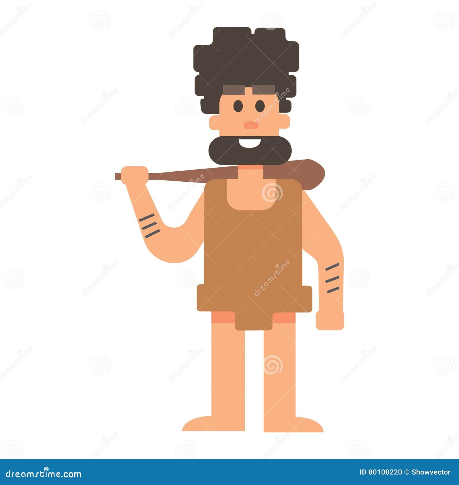 Povos primitivos da Idade da Pedra do homem das cavernas
