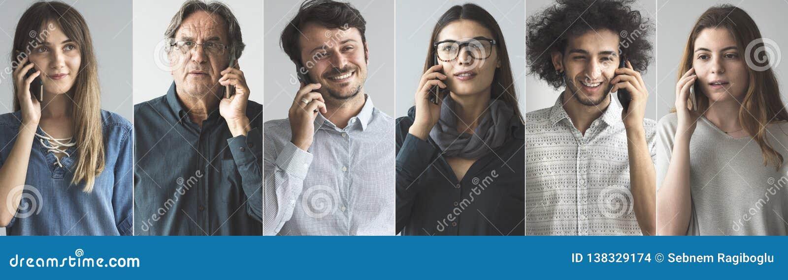 Povos que falam no telefone celular