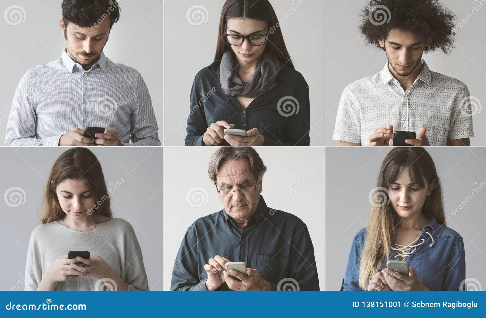 Povos que usam o telefone celular
