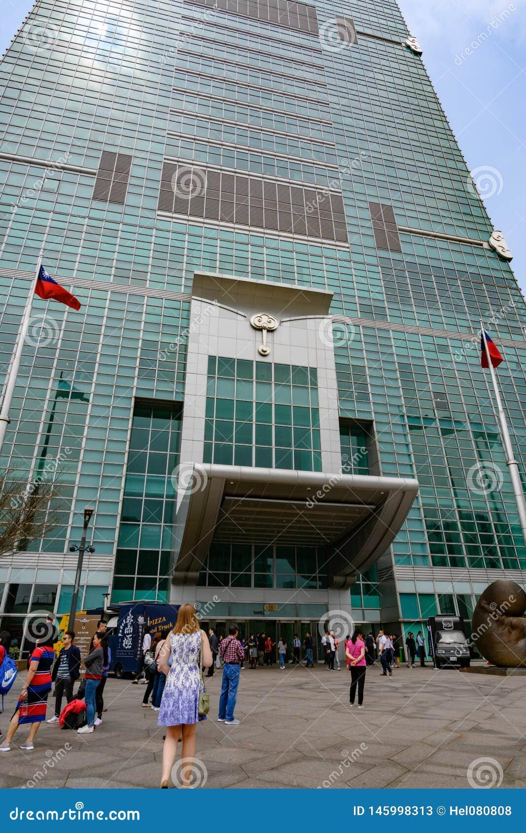 Povos que vão extasiar Taipei 101, Taiwan Centro financeiro de Taipei