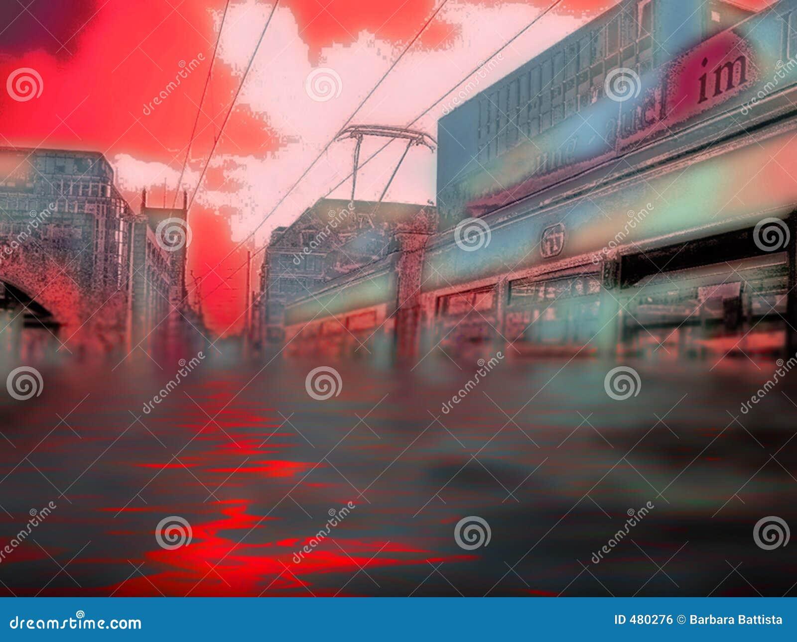 Powódź katastrofy miejskiej