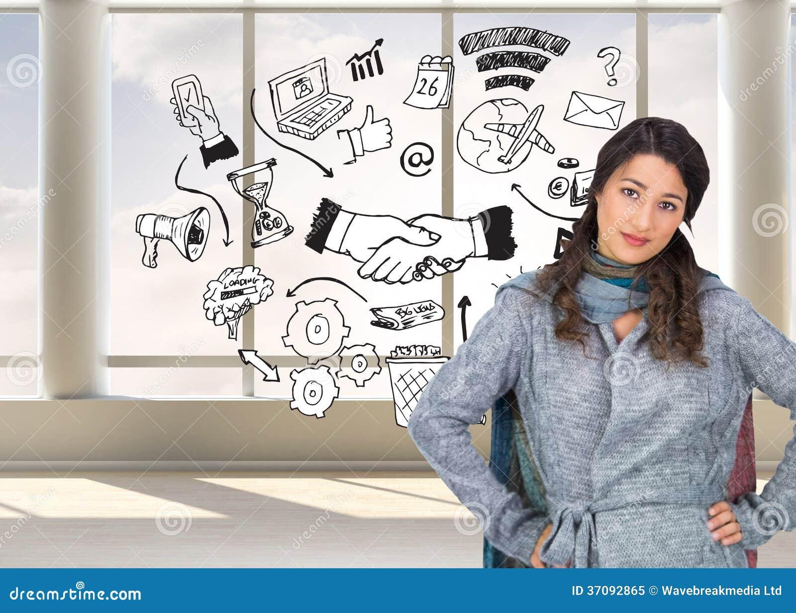 Download Poważna ładna Brunetka Jest Ubranym Zimę Odziewa Pozować Obraz Stock - Obraz złożonej z jaskrawy, dochodowość: 37092865
