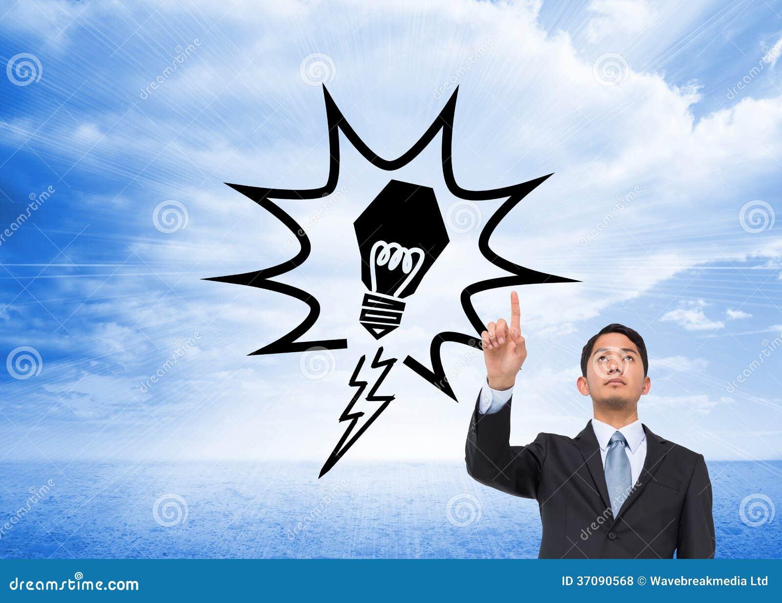 Download Poważny Azjatykci Biznesmena Wskazywać Zdjęcie Stock - Obraz złożonej z jeden, komputer: 37090568