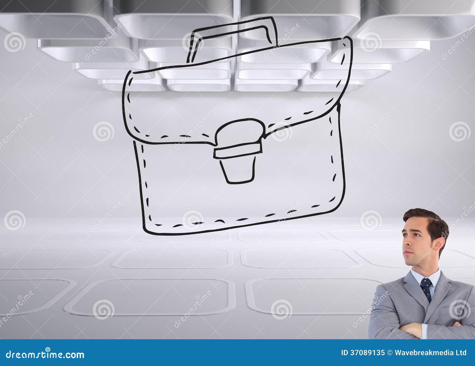 Download Poważny Biznesmen Z Rękami Krzyżować Obraz Stock - Obraz złożonej z gładki, mądrze: 37089135