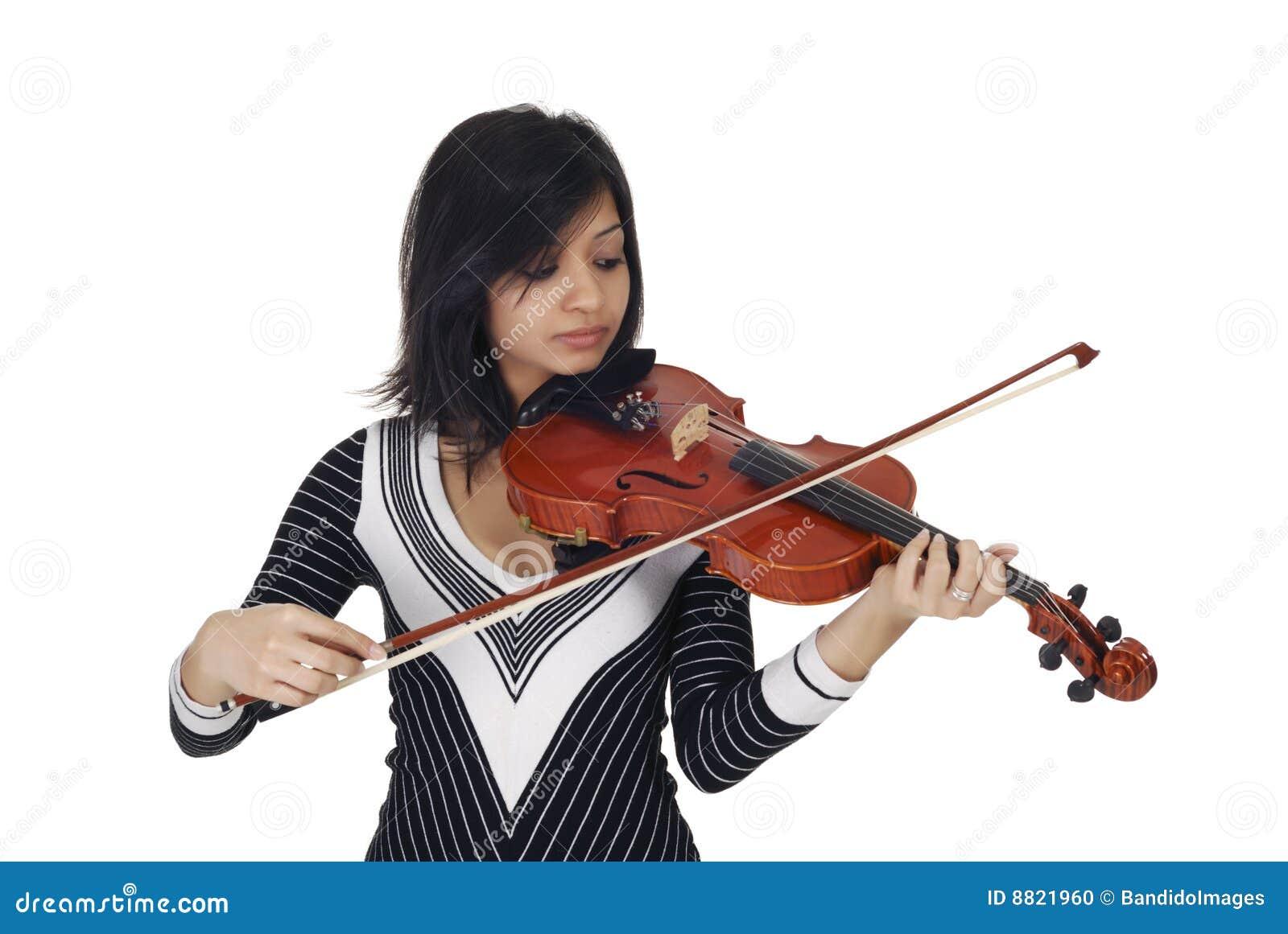 Poważny gracza skrzypce