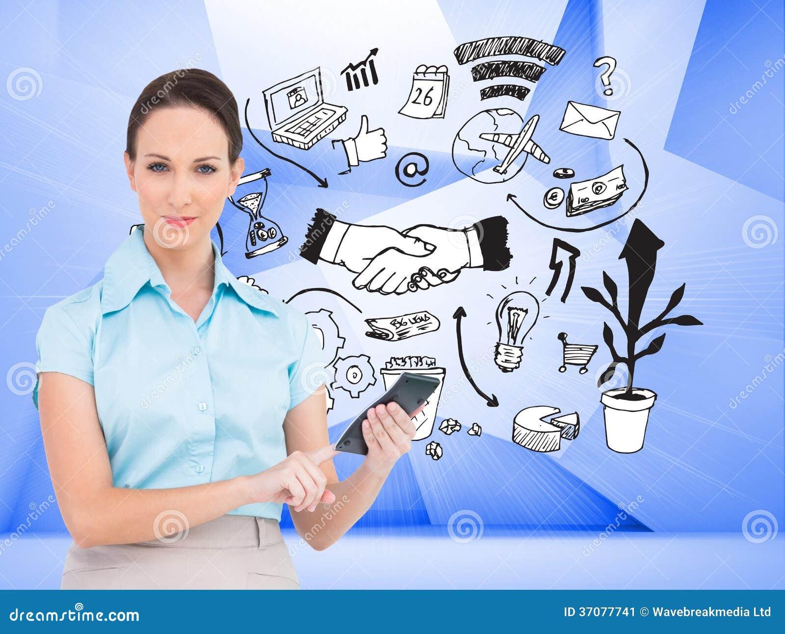 Download Poważny Z Klasą Bizneswoman Używa Kalkulatora Obraz Stock - Obraz złożonej z abstrakt, podróż: 37077741