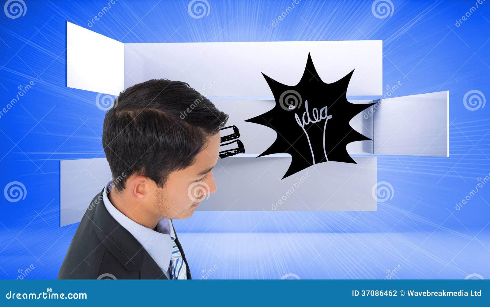 Download Poważny Azjatykci Biznesmen Zdjęcie Stock - Obraz złożonej z żarówka, corp: 37086462